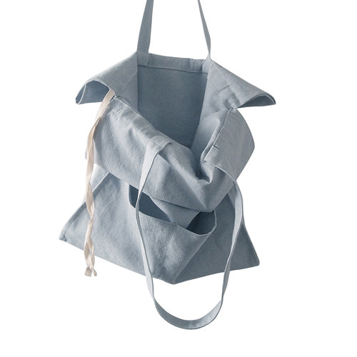 cotton shirring bag-sky
