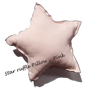 Star ruffle Pillow_pink
